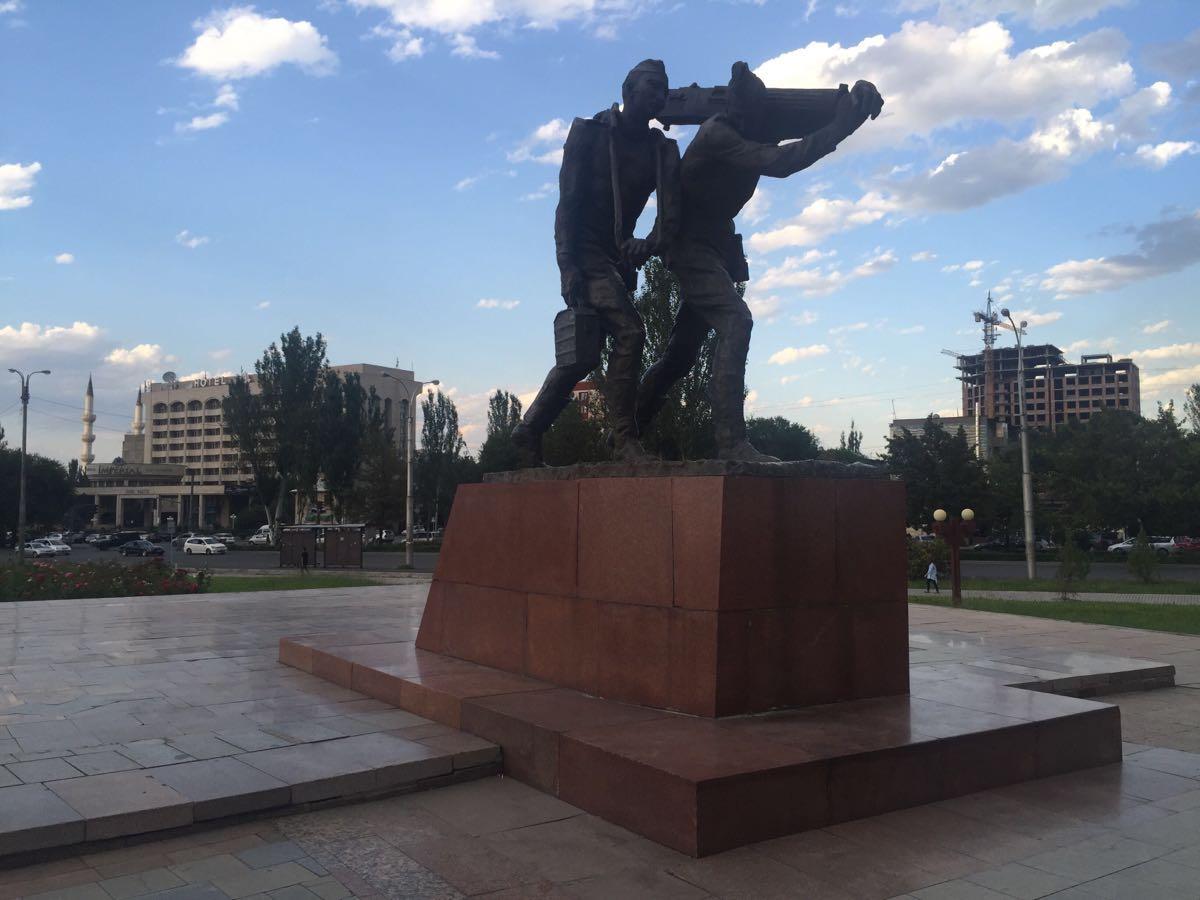 Monument to Baatyr Kaba Uulu Kozhomkul  Monument to Baatyr Kaba Uulu Kozhomkul   -1