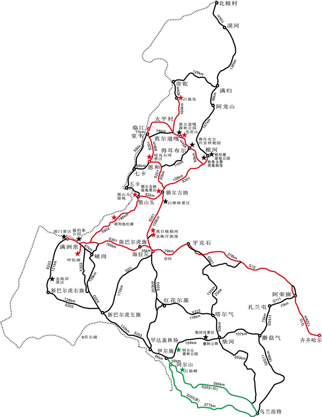 2016暑假呼伦贝尔8天自驾游+手绘地图