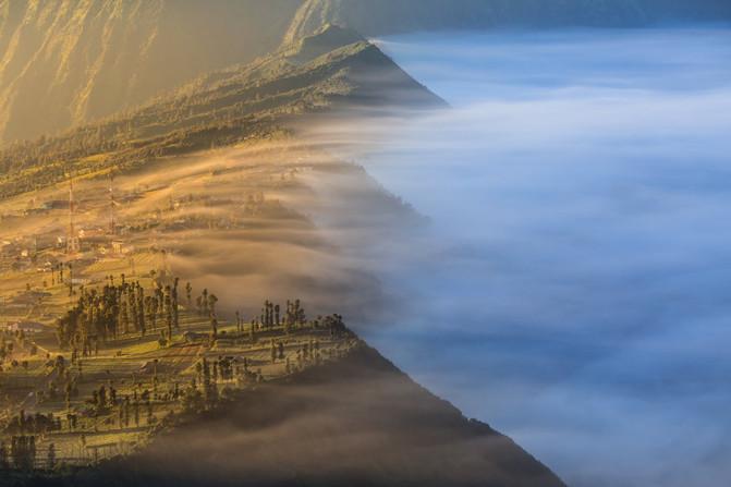 印尼, 一个人的火山摄影之旅(bromo 伊真蓝色火焰 林贾尼徒步之旅)