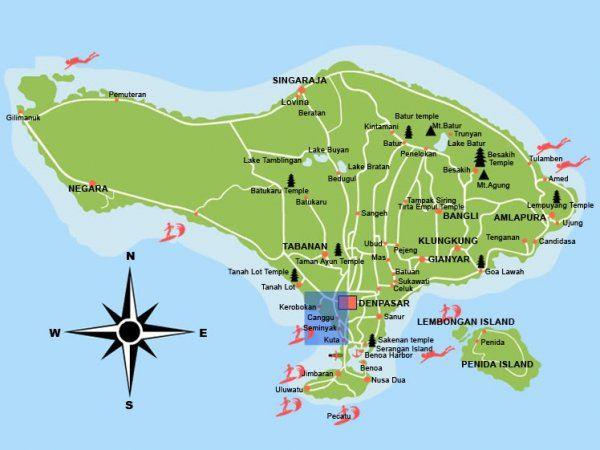 2)旅友手绘巴厘岛地图