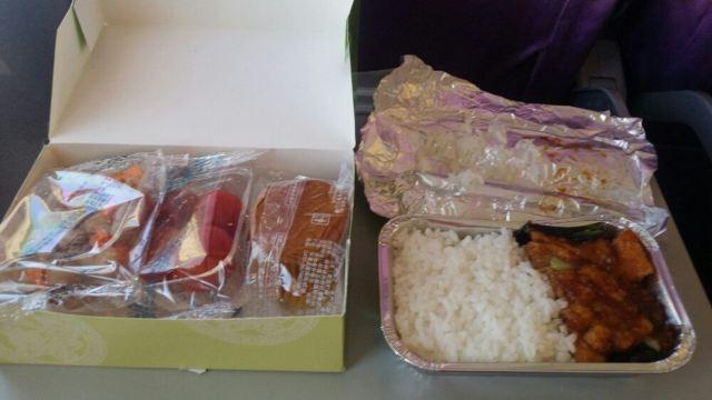 厦门航空飞机餐第一顿