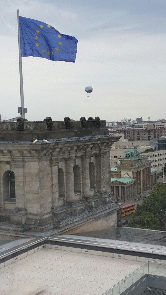德国国会大厦穹顶环视柏林