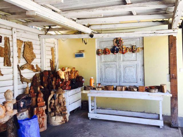 兰卡的手工木制品