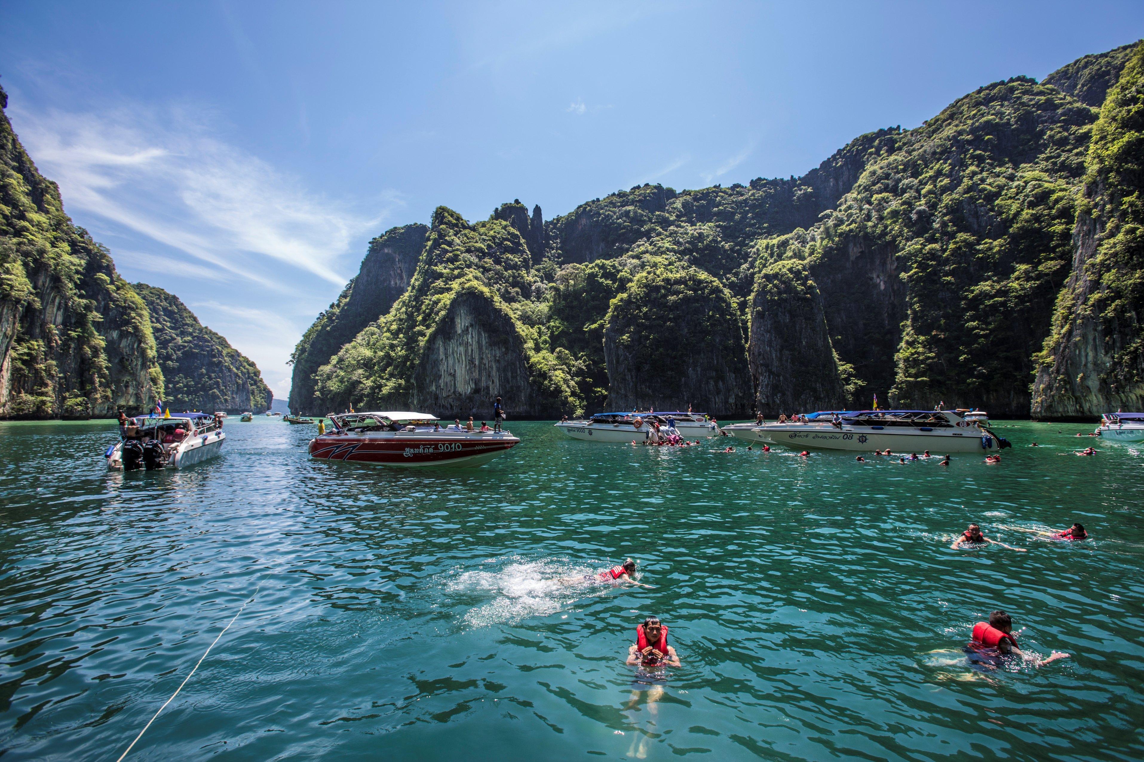 泰国普吉岛大小皮皮岛竹子岛 蜜月岛蛋岛 玛雅完一日游【水下拍照