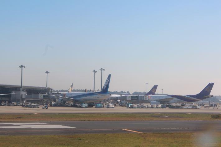 我们乘坐的飞机降落到厦门国际机场