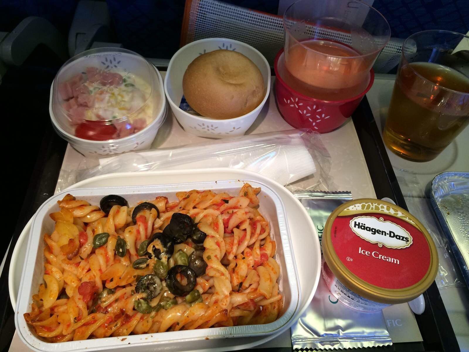 超级超级超级好吃的飞机餐!我爱国泰航空!