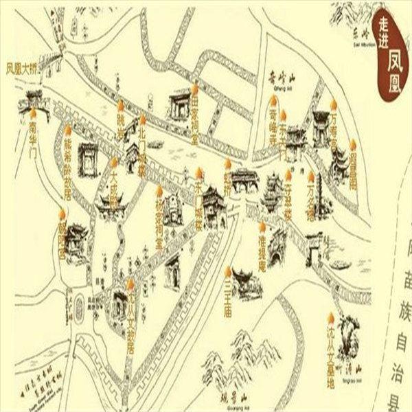 学生手绘行走地图