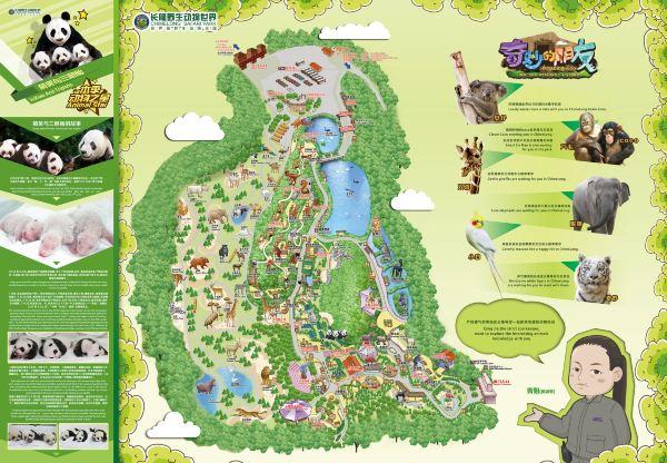 长隆野生动物园游览图