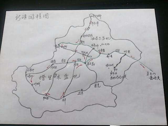 8到10岁画_姚老师亲自绘制的全疆游地图