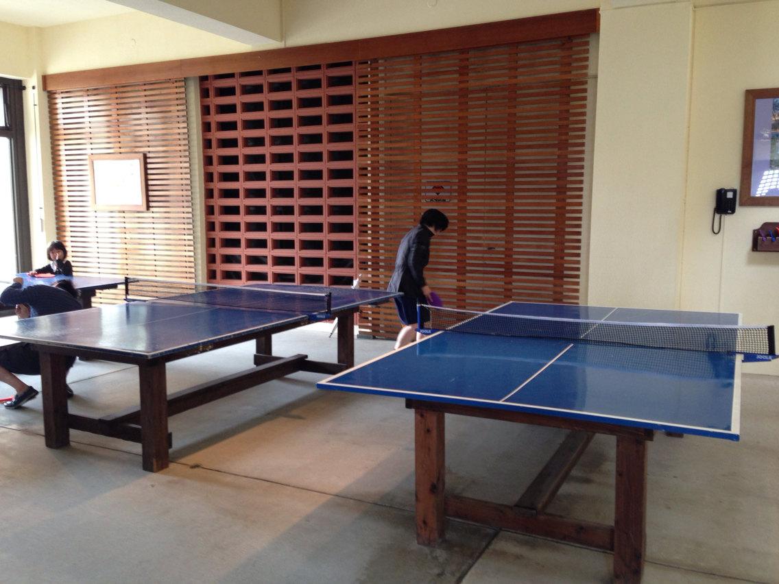 室内乒乓球,几乎没有人玩.图片