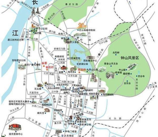 玄武湖地图手绘版