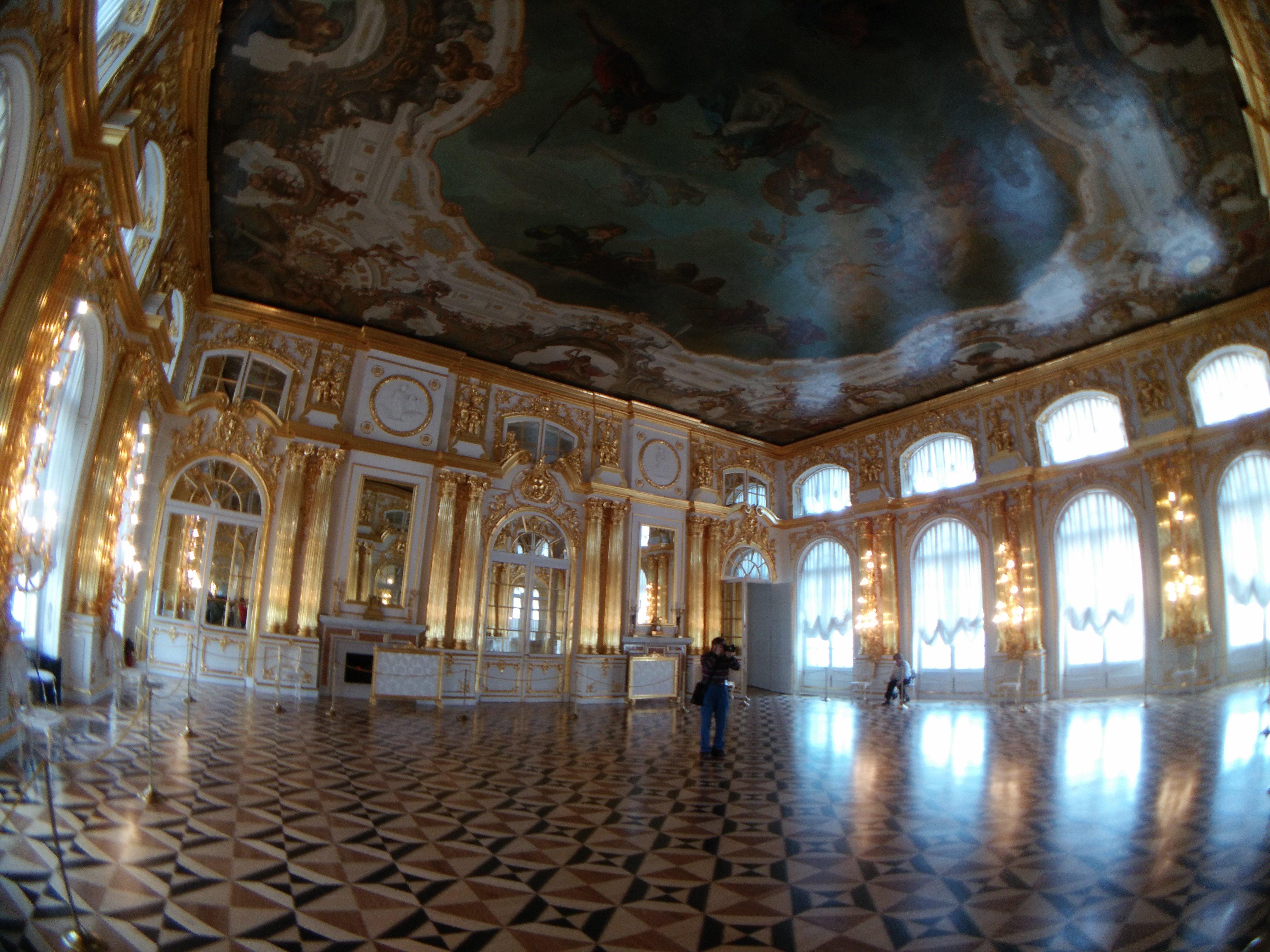 古欧式宫殿内部图片