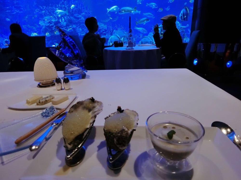 【奢华何必低调】迪拜卓美亚帆船酒店海底餐厅al mahara晚餐