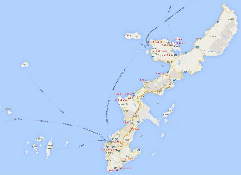 冲绳县地图