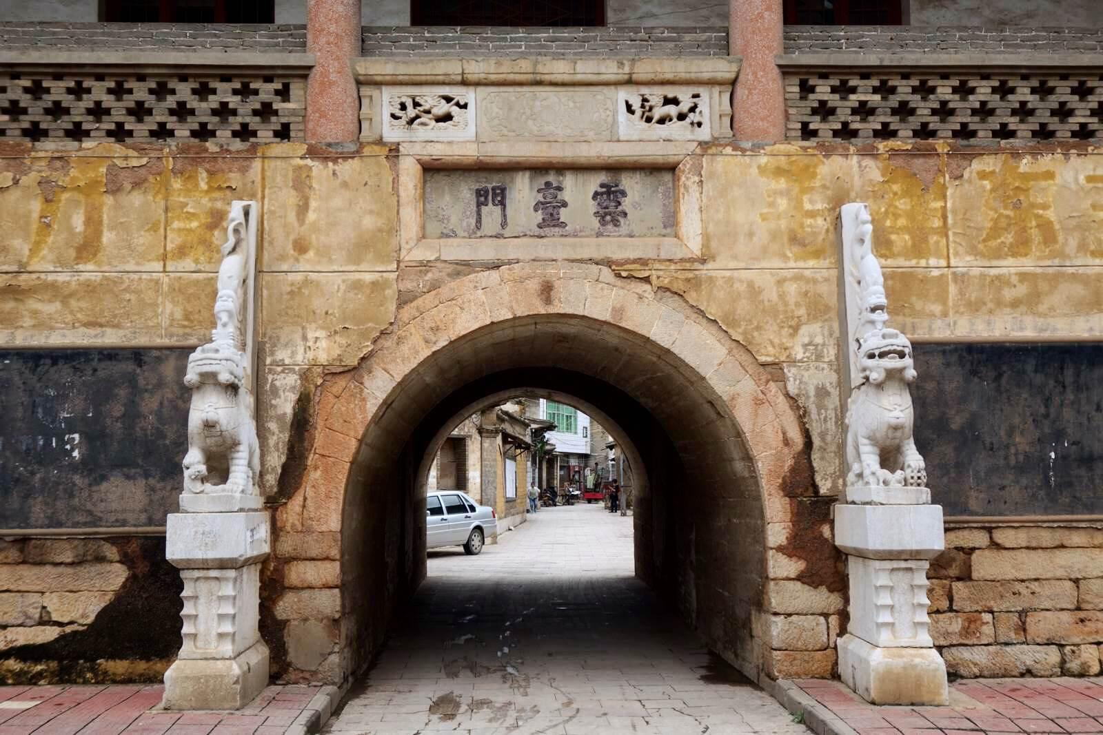 古风建筑门手绘