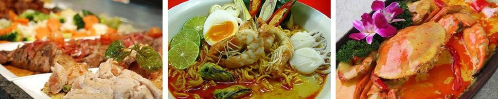 tai chang自助餐,沙美岛泰式海鲜餐,鱼翅燕窝(皇帝宴),水果大餐