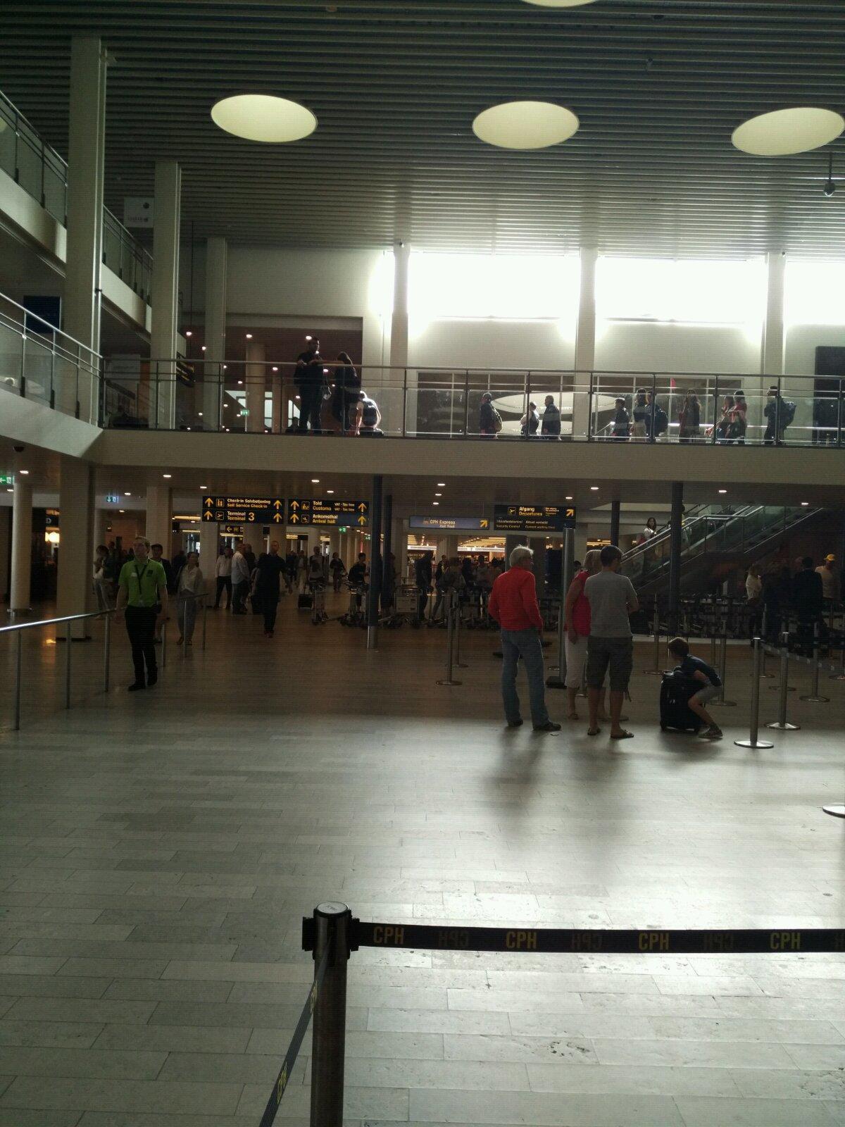 前往哥本哈根机场,准备乘坐莫斯科航班前往莫斯科