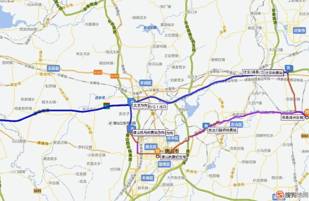 滦州市交通地图