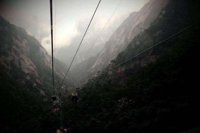 风景区(路费:225元) 山下还好好的天气,一到了山里,wuli乖乖,看来下午