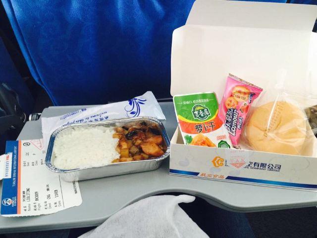 奥凯的飞机餐比天津航空的好多了