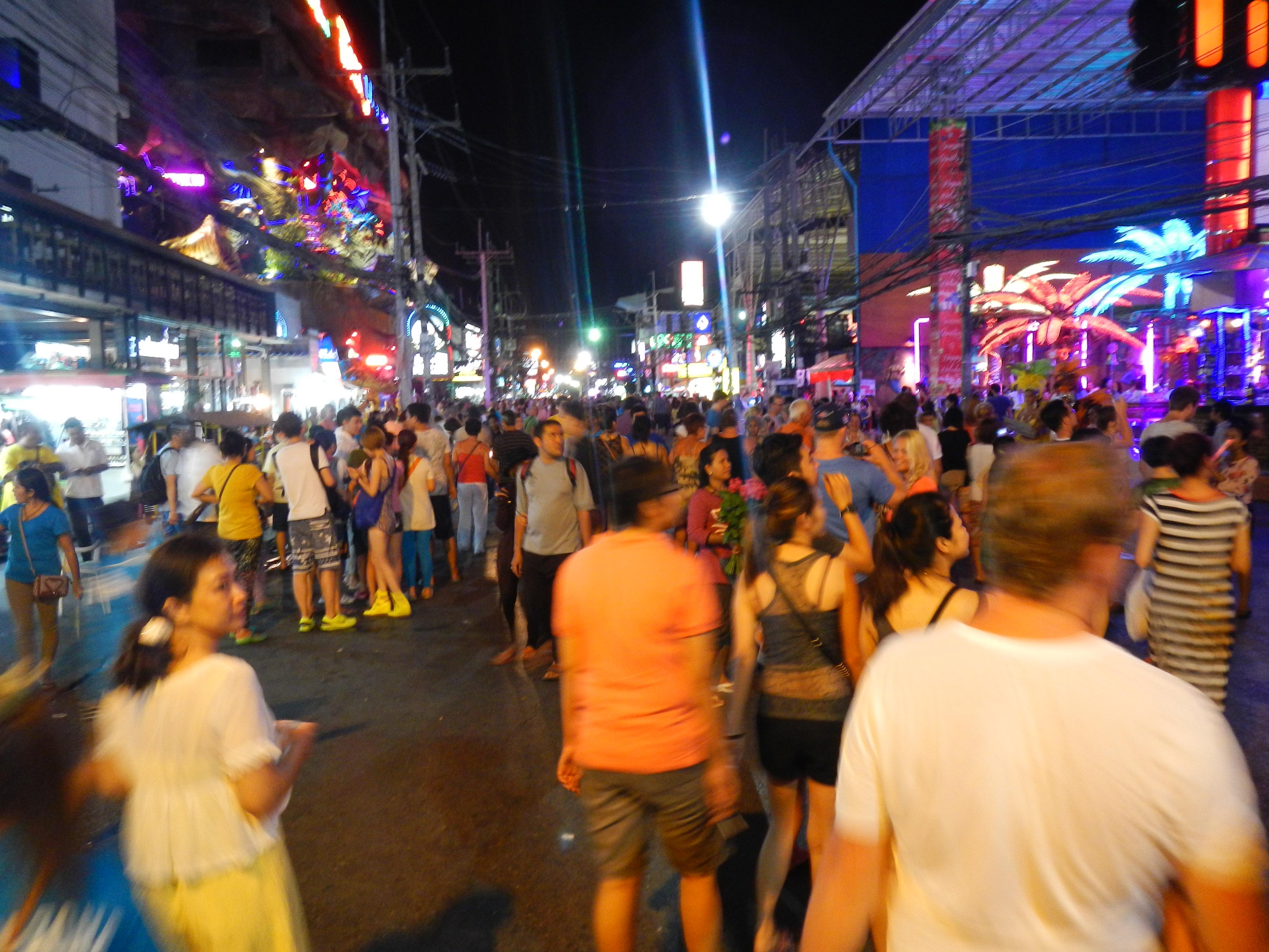 banzaan菜市场前的夜市