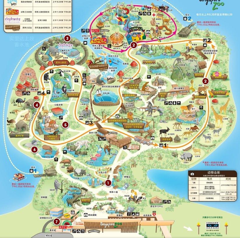 新加坡景点地图