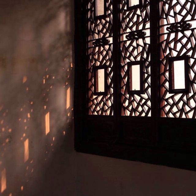 苏州古典窗户手绘
