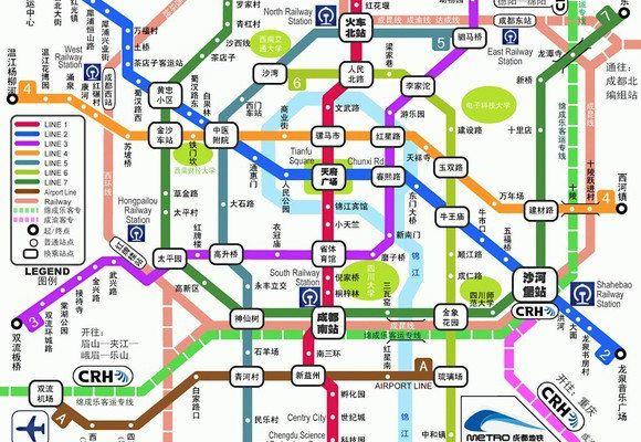 成都未来地铁 共七号线外加轻轨等