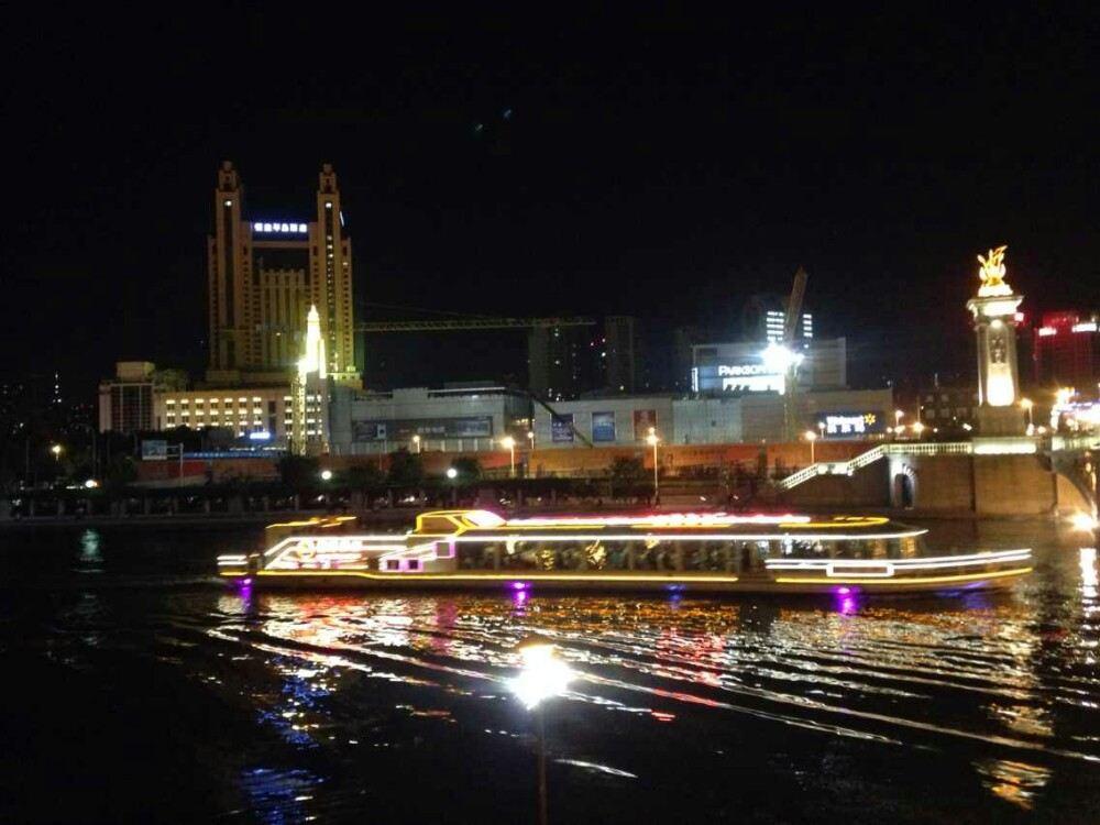 天津海河矢量图片