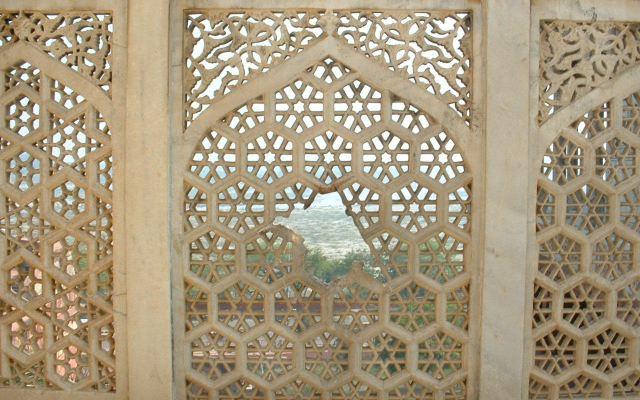 印度的石雕窗户